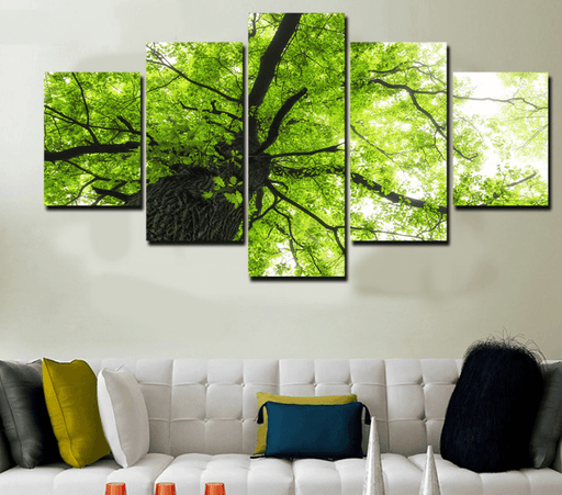 5 Pieces Multi Panel Modern Home Decor Framed Spring Tree Scenery Wall Canvas Art | Octo Treasure