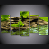 5 Pieces Multi Panel Modern Home Decor Framed Tranquility Forest Stream Wall Canvas Art | Octo Treasure