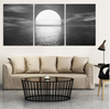 "3 Panel ""The Calm Sea"" Canvas Painting"