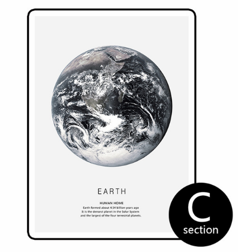 """Discovering Earth and Moon"" Canvas Wall Art"