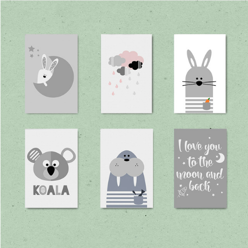 """Scolaaco Animal Quotes Collection"" Canvas Wall Art"