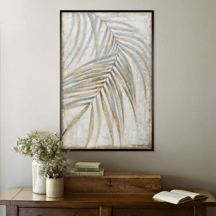 """Fern Leaf"" Unframed Canvas Oil Painting 