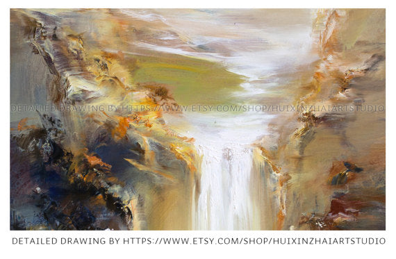 """Natural Creation"" Landscape Oil Painting"