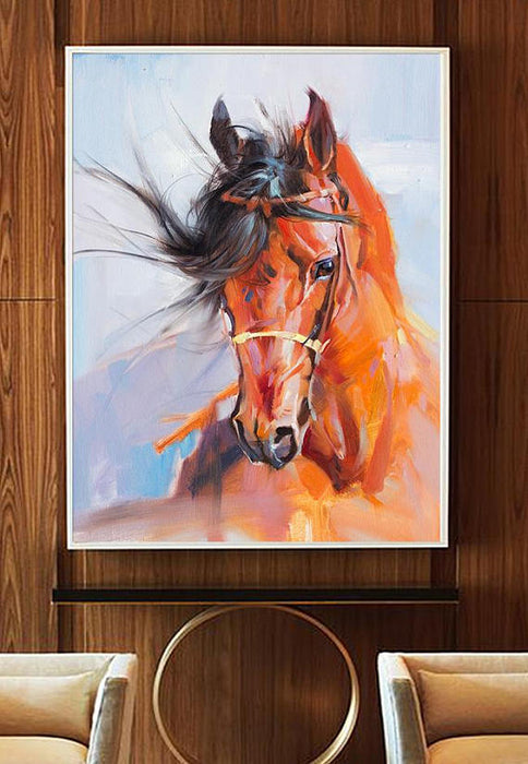 """Skydance Horse"" Canvas Oil Painting"