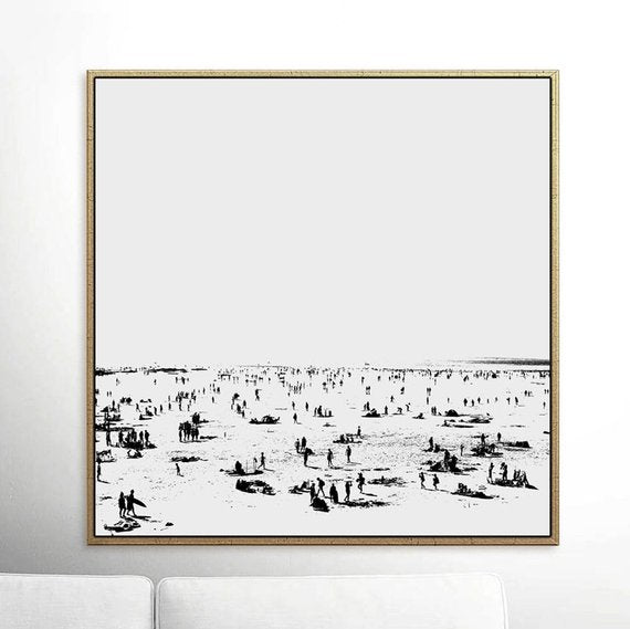 "Beach Painting,""Beach Day"" Printable Art Prints, Dan Hobday, Living Room Decor, digital download art, nature art, minimal wall art prints"