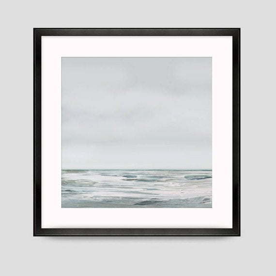 Printable Abstract Art, Seascape Painting, Digital Download, 40x40 Abstract Seascape Large wall art, Ocean Art, Ocean Print, minimal decor