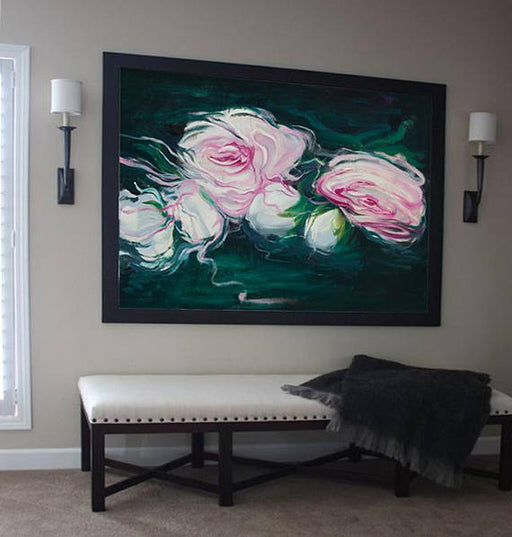 """Flowers of Attraction"" Canvas Painting"