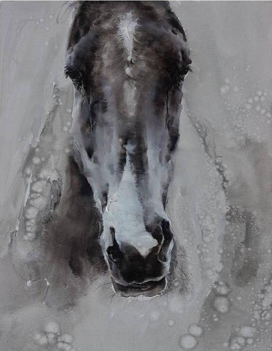 """Happenstance"" Horse Canvas Acrylic Painting"