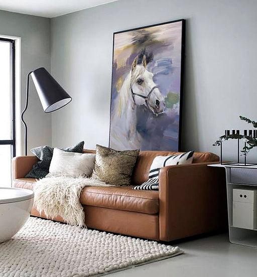 """Morning Step"" Horse Canvas Painting"
