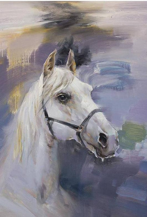 """Morning Step"" Horse Canvas Acrylic Painting"