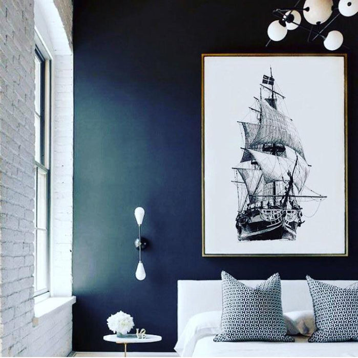 1 Panel Vintage Sailboat Canvas Painting