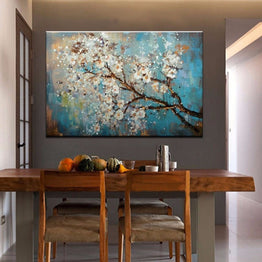 1 Panel Flowers Tree Abstract Unframed Wall Art Canvas | Octo Treasure
