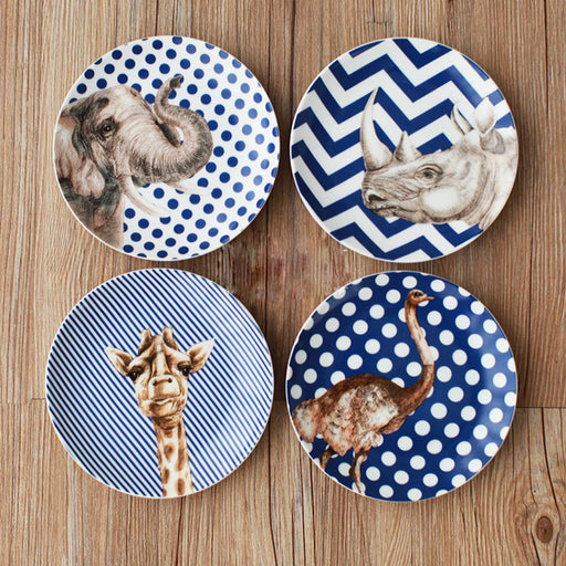 Africa Wild Life Ceramic Dinner Dishes Collection