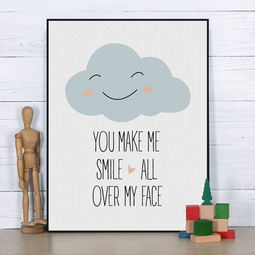 "Quotes You Make Me Smile You Make Me Smile"" Quotes Wall Poster  Octotreasure"