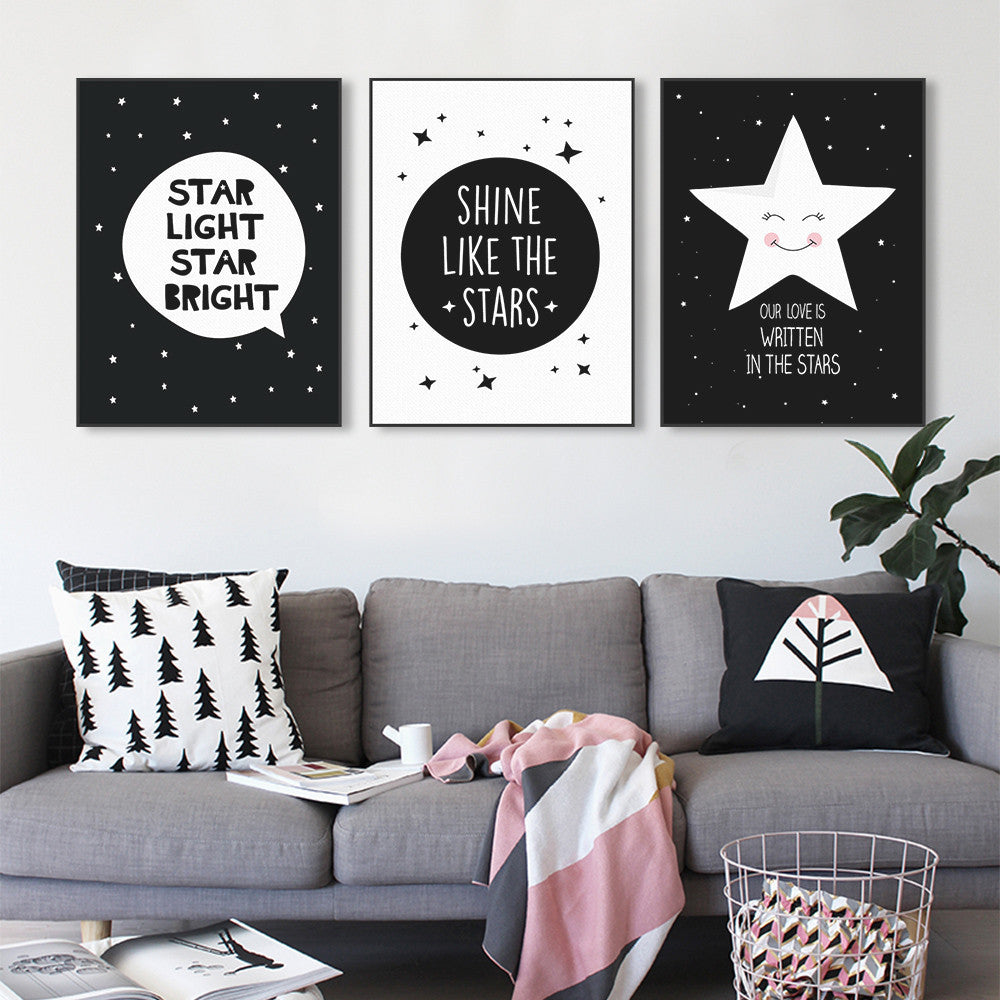 Creotles Star Quotes Canvas Wall Art Octotreasure