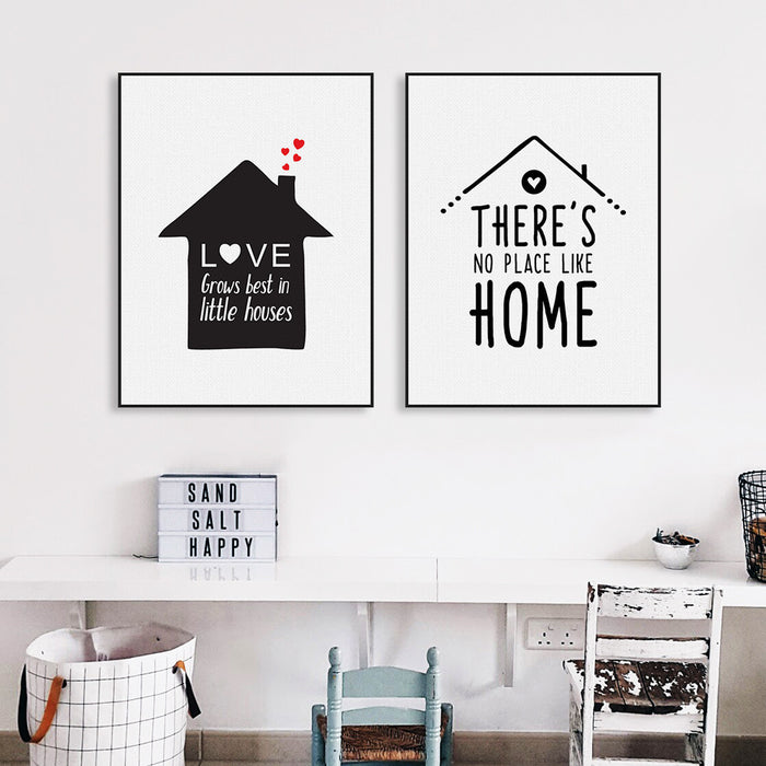 Nordic Minimalist Typography Love Quotes Art Print Poster Nursery Wall Picture Canvas Painting No Frame Living Room Home Decor | Octo Treasure