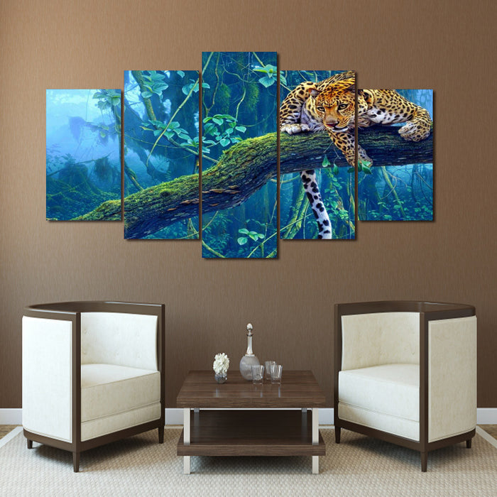 HD Printed Jungle leopard Painting Canvas Print room decor print poster picture canvas Free shipping/ny-3042 | Octo Treasure