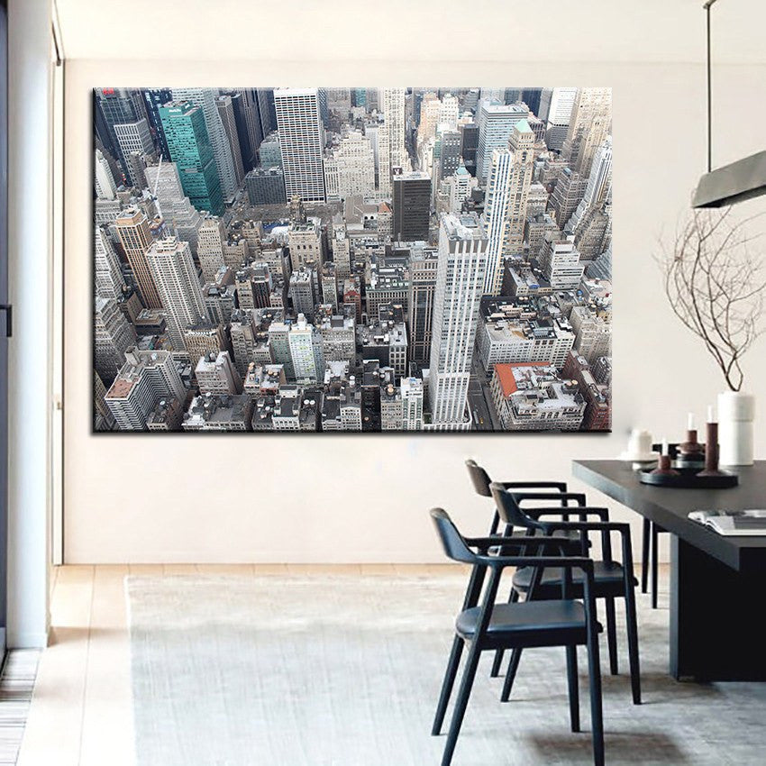 1 Panel New York Buildings Top Unframed Home Decor Wall Art | Octo Treasure