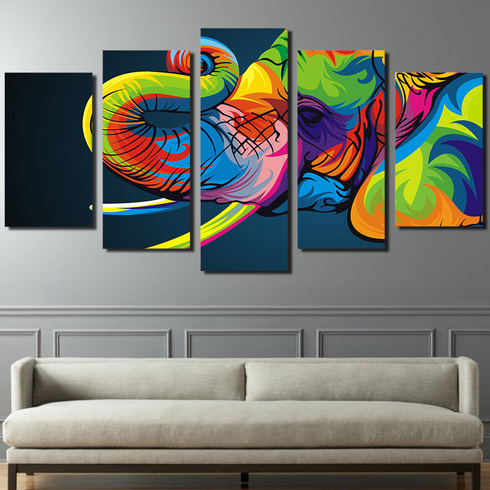 HD Printed Colorful elephant Painting Canvas Print room decor print poster picture canvas Free shipping/ny-2650 | Octo Treasure