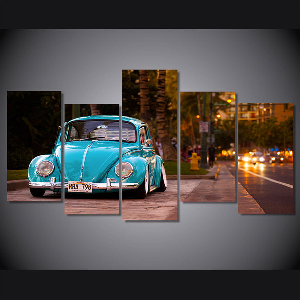 Volkswagen beetle car Painting on canvas | Octo Treasure