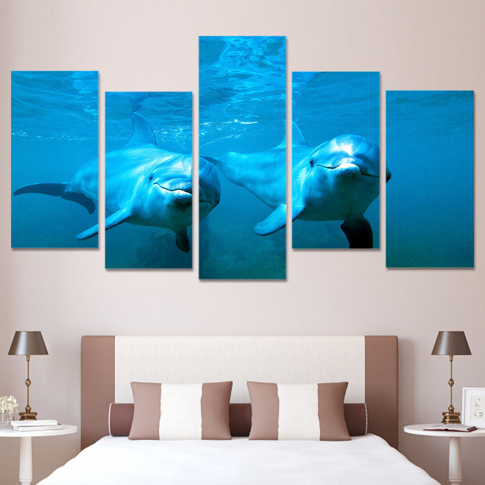 HD Printed Ocean Dolphins Painting Canvas Print room decor print poster picture canvas Free shipping/ny-2942 | Octo Treasure