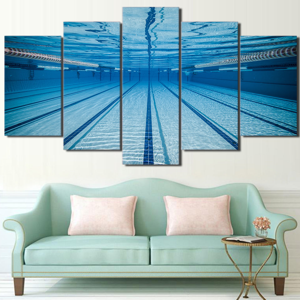 "5 Panel ""Underwater Beauty"" Canvas Painting"