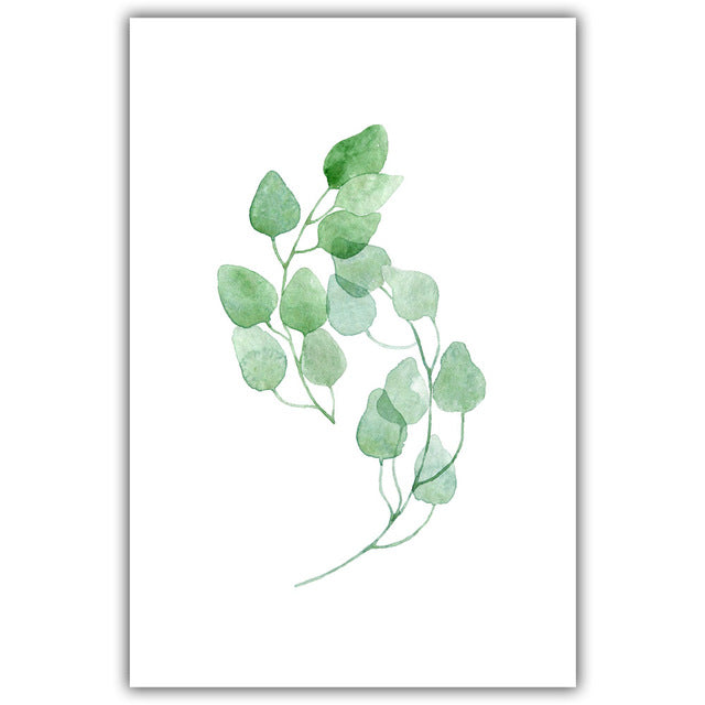 """Green Spring Leaf"" Canvas Painting"