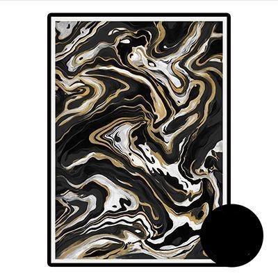 Black and White Gold Nordic Canvas Wall Art | Octo Treasure