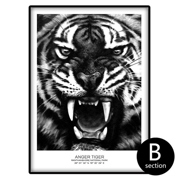 """Be Strong And Roar"" Wild Tiger Canvas Wall Art 