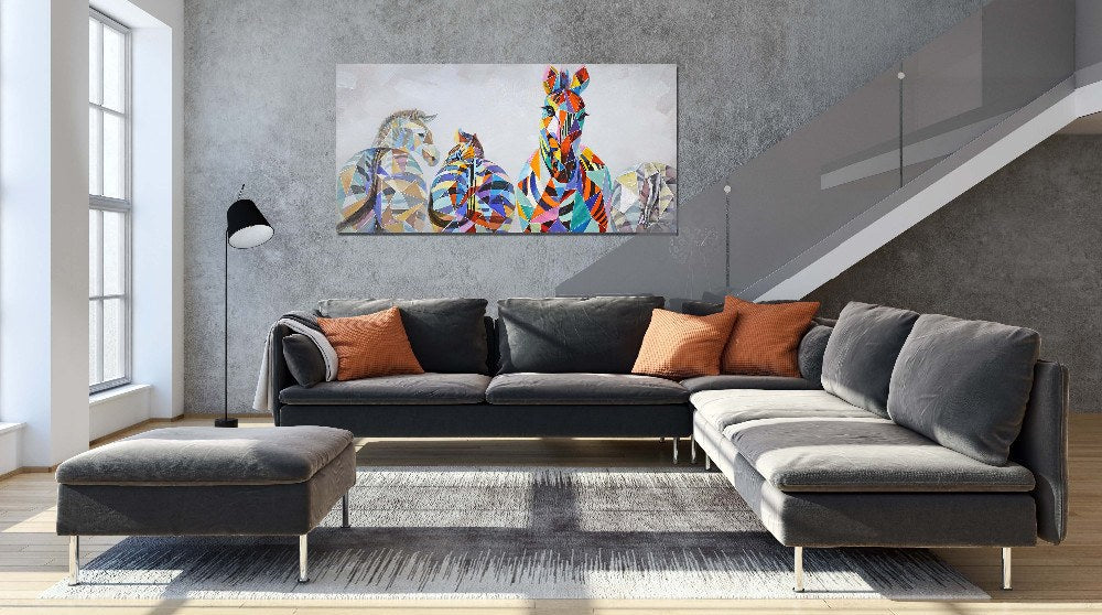 Zebra Unframed Modern Wall Canvas | Octo Treasure