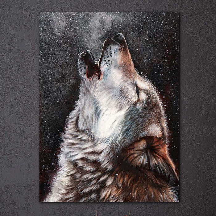 """Thunder Oak"" Howling Wolf Canvas Painting"
