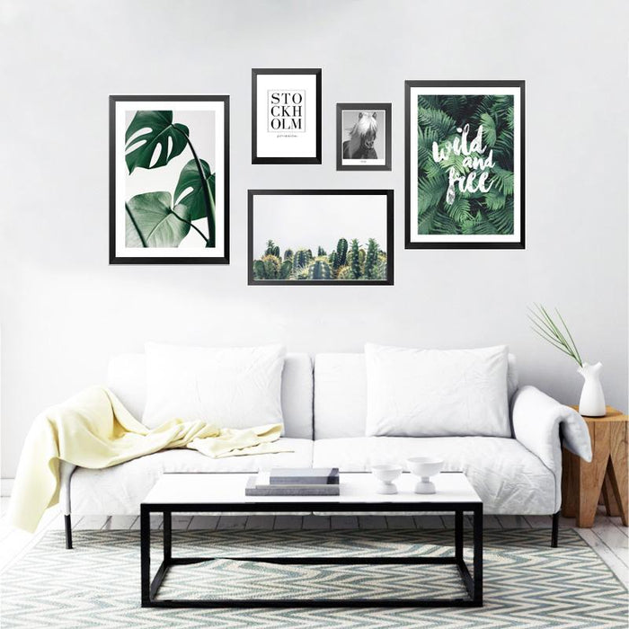 """Stockholm Harmony"" Nordic Style Plants Life Posters Spray Prints"