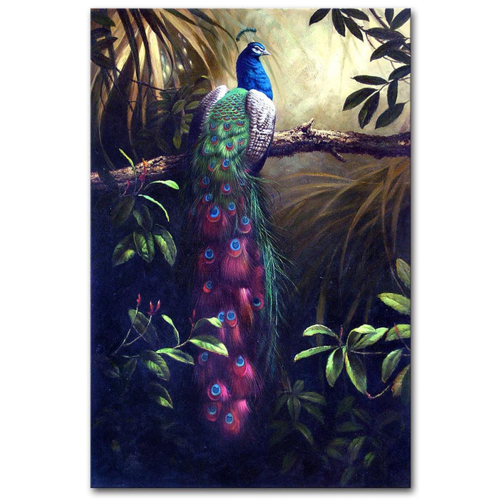 Majestic Peacock Painting Modern Home Decor | OctoTreasure
