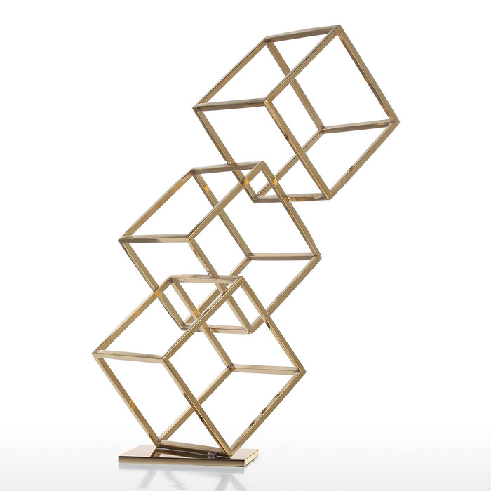 Modern Abstract Cube Figurine Home Decor