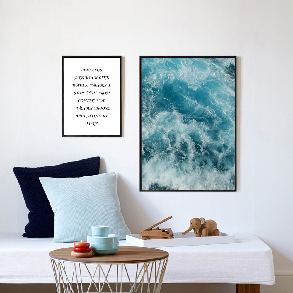 """Water Waves"" Canvas Wall Art"