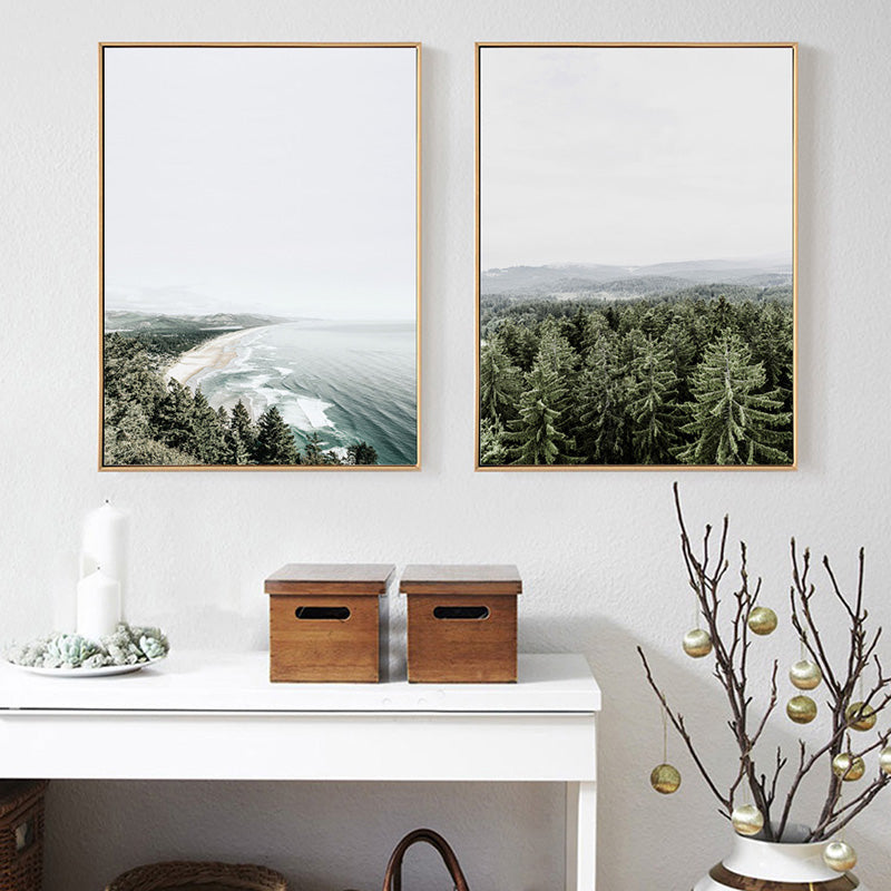 Beau Nordic Home Decor Green Forest Wall Art Sea Landscape Canvas Prints Decor  Poster New Canvas Pictures For Living Room Unframed