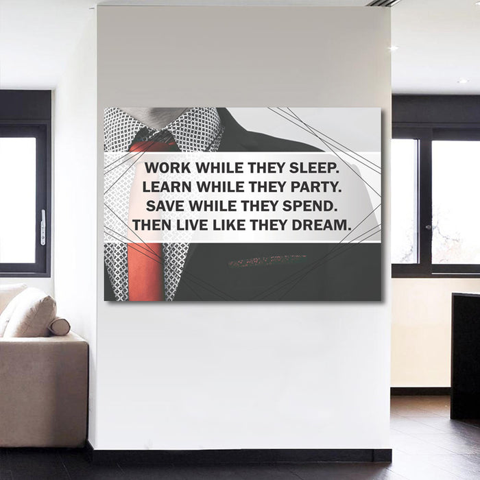 """Live Like They Dream"" Quotes Canvas Wall Art"