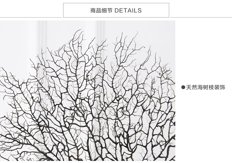 Modern Withered Sea Coral Fan Branches Home Decoration