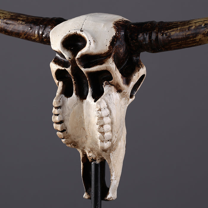 Europe Vintage Cow Head Skull Natural Desk Decor