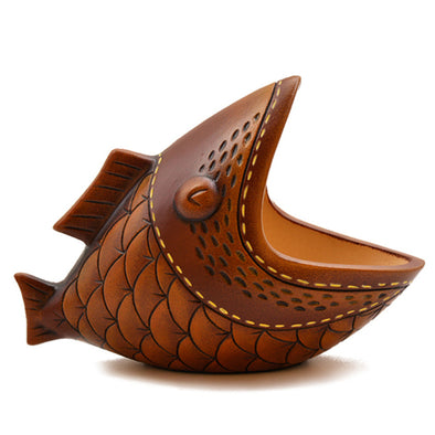 "Ceramic ""Big Mouth Don't"" Fish Decoration"