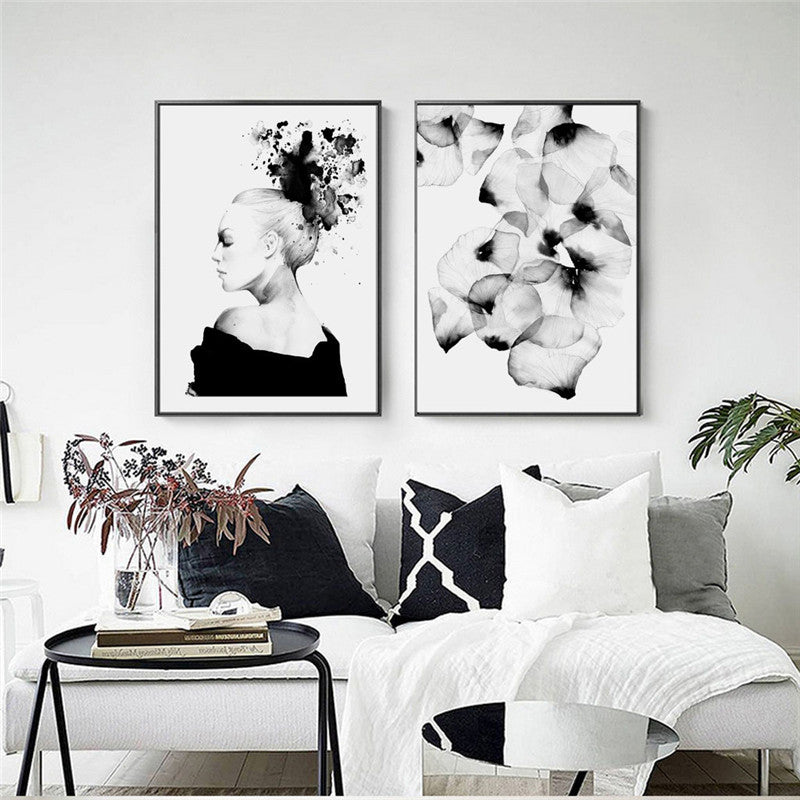 Nordic Posters Love Wall Art Canvas Painting Posters And Prints Cuadros Decoracion Canvas Prints Home Decor Girl Photos Unframed