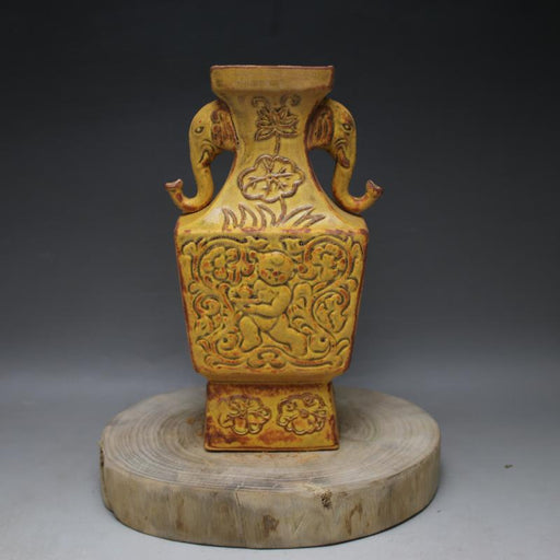 Song Dynasty Elephant Ears Porcelain Antique Vase
