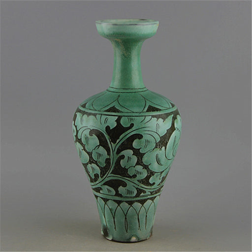Song Dynasty Green Glaze Porcelain Antique Vase