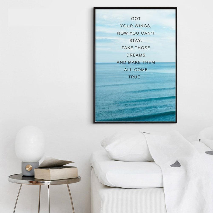 """On The Road"" Travel Motivation Quotes Canvas Prints 