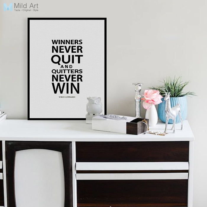 Modern Minimalist Black White Motivational Typography Life Quotes A4 Big Art Print Poster Wall Picture Canvas Painting Home Deco