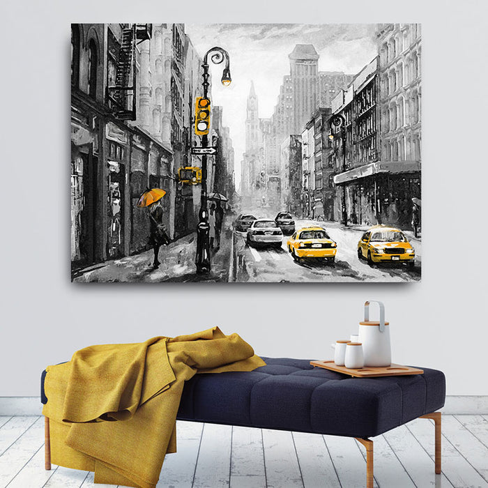 Embelish Hot Selling American New York City Landscape Modern Home Decor Wall Posters For Living Room HD Canvas Oil Paintings