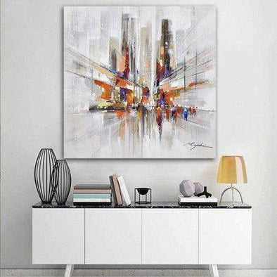 """New York Urban Street"" Abstract Canvas Spray Painting 