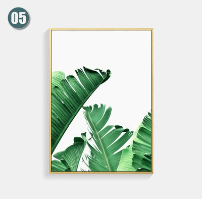 Banana Leaf & Tropical Plants Canvas Wall Art