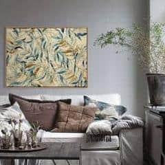 1 Panel Classic Abstract Leaves Unframed Modern Wall Canvas | Octo Treasure