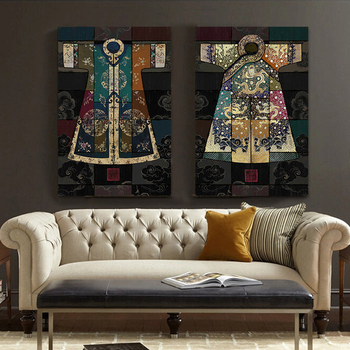 Chinese classical culture and the arts robes antique collage Canvas Wall Art Home Decoration  living room duvar tablolar picture | Octo Treasure